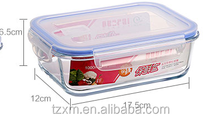 BPA FREE airtight leak-proof glass food storage container set with plastic lock lid