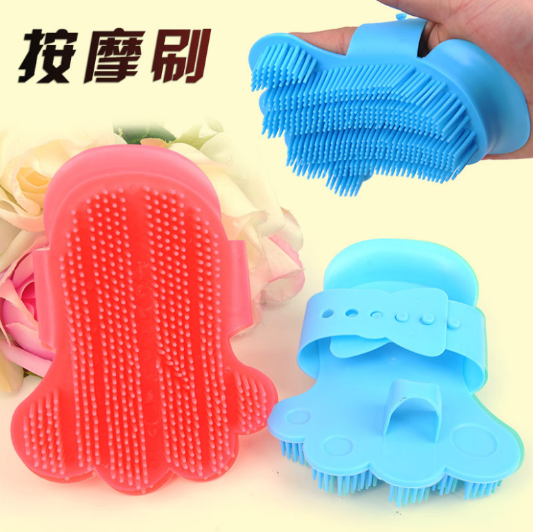 Rubber dogs and cats bathing Gloves type high-grade massage pet bathing brush