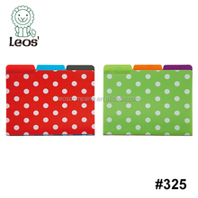 Polka Dot File Holder With Index