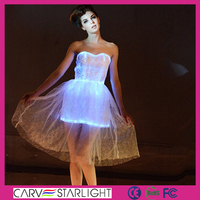 Luminous clothing light up girl party wear western evening dresses