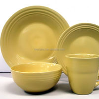 16pcs embossed ceramic dinner sets uk