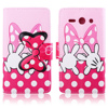 For Huawei Ascend Y530 Case,Case for Huawei Ascend Y530 PU Leather Wallet Case Cute Bow-knot Folio Stand for Huawei Ascend Y530