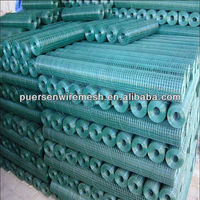 "Weld Steel Wire Mesh 3/8"",PVC coated"