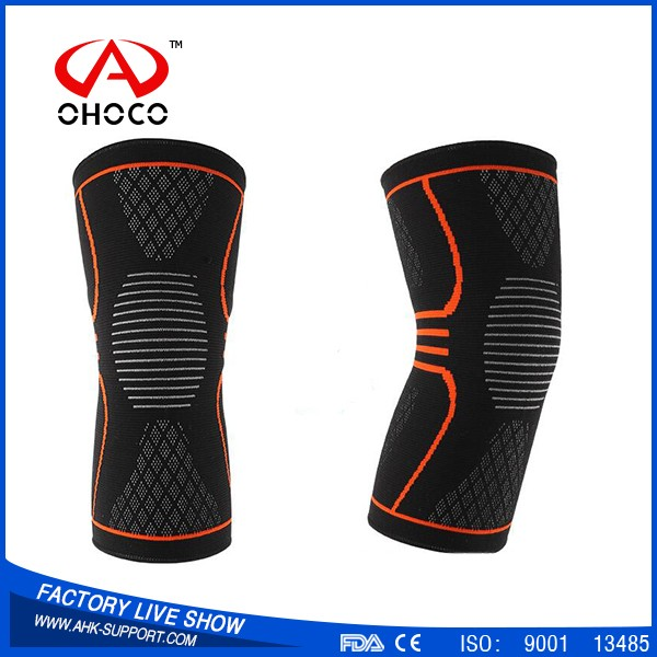 2017 Breathable leg long sleeve nylon knee support brace with low price