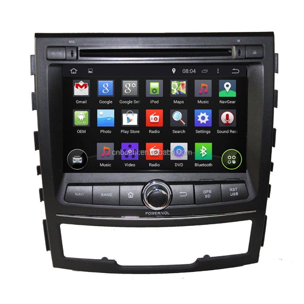 Android 5.1.1 Touch Screen Car DVD Player GPS Navigation for SsangYong Korando 2010-2013