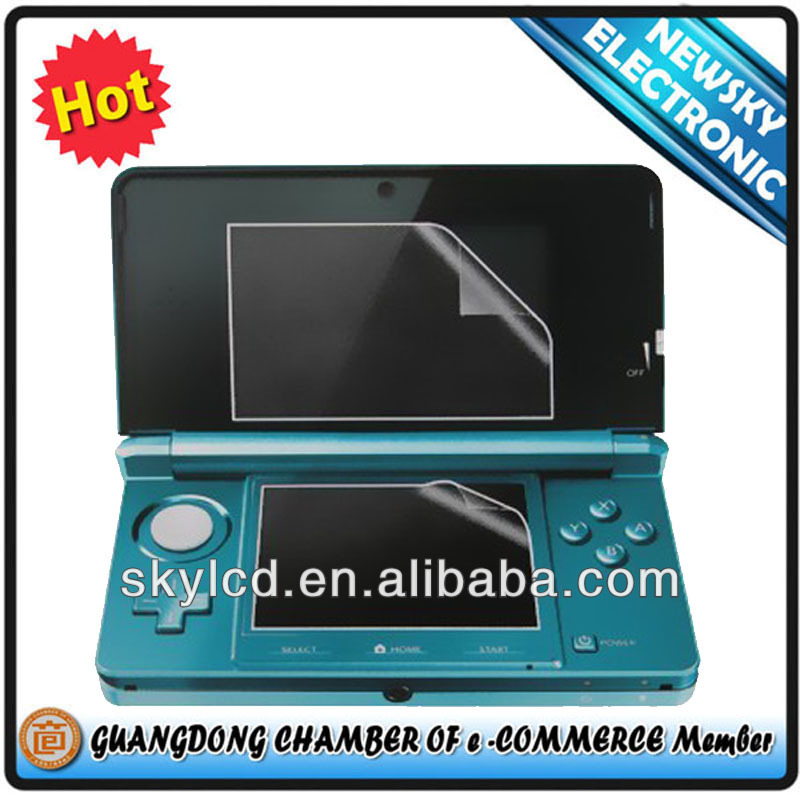 Factory price anti glare screen protector for 3ds