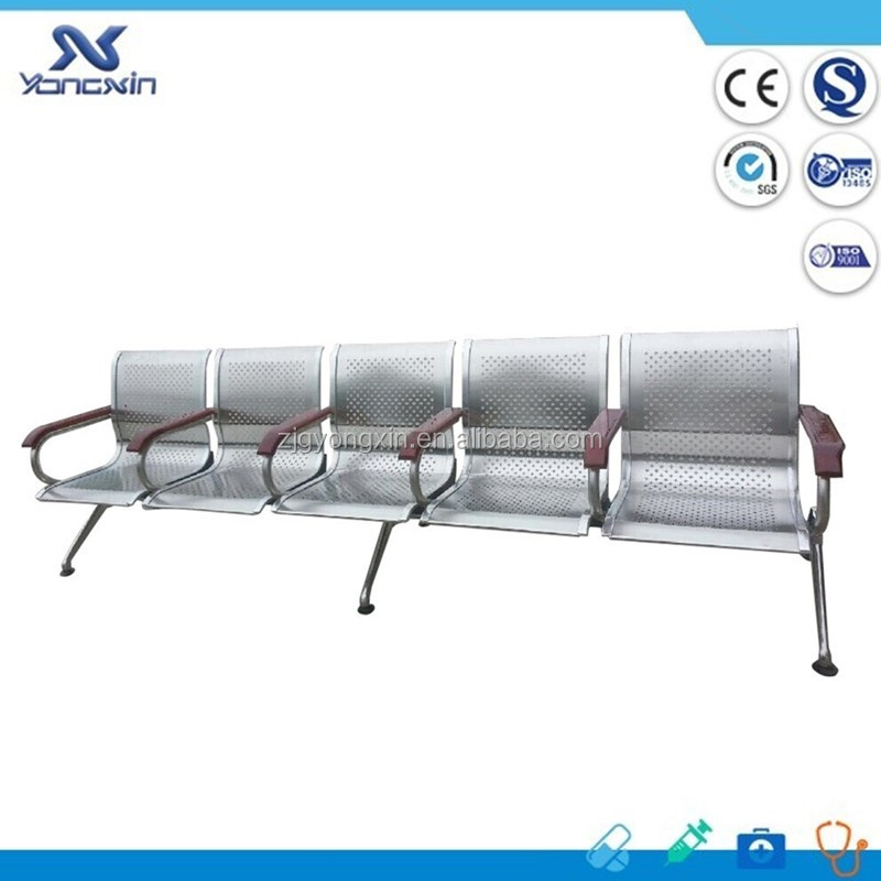 Hign Quality Stainless Steel Airport Chair/5 Seats Waiting Chair YXZ-036B