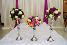 Wholesale metal wedding flower stands antique wedding table centerpiece