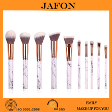 Personised 10 pcs marble makeup brush set with customized packaging
