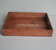 hot sales antique wooden serving tray with handle