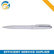 Simple Slim Slivery Twist Metal Ball Pen