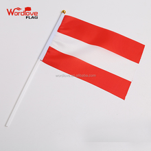 polyester 14x21cm custom Austria hand held flag,national day cheering hand waving country flag,mini stick flag