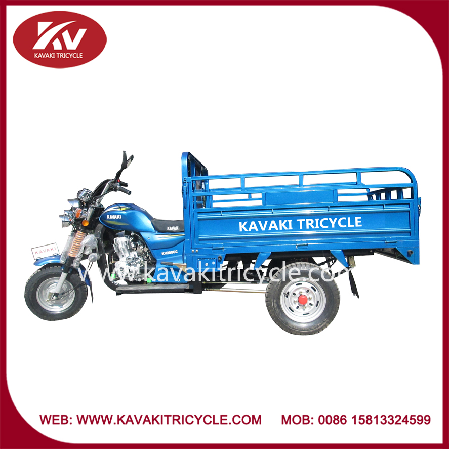 Supply three wheel gas powered air-cooled motorcycle/tricycle for cargo