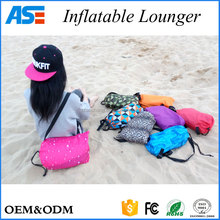 2017 Hot outdoor Portable Inflatable banana sleeping bag air sofa
