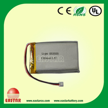solar cell 12V lipo battery/ ultra thin 3.7v 1050mah lipo battery li polymer rechargeable battery for leica total station