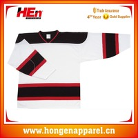 Hongen apparel Embroidered logo Tackle Twill name and number ice hockey jersey for game high quality custom design canada team