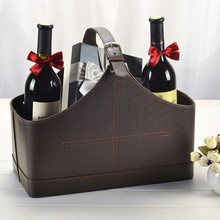 High Quality large Leather Gift Basket Empty for New year