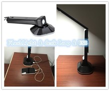 Dimmable Desk Lamp LED, Desk Lamp Timer, 1 Hour Auto Timer with USB Charging