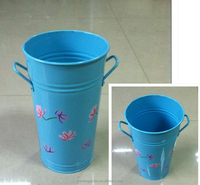 elegant color painting wedding decorative metal flower pot