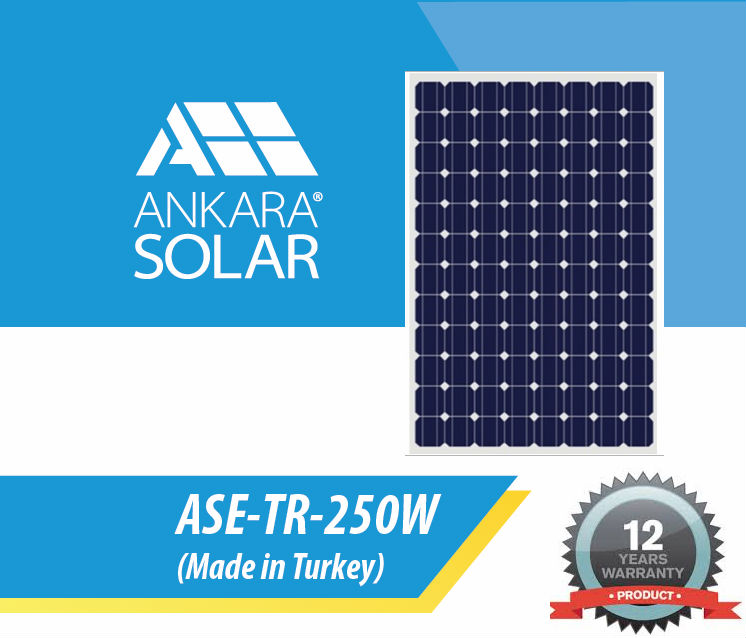 Solar Panel 250w - A-grade cell high efficiency Made in TURKEY