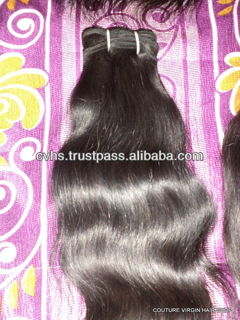 100% Real Human Hair Wholesale Virgin Indian Hair 2014 promotions