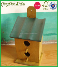 SEDEX and FSC audited top quality exterior grade outdoor cheap eco-friendly wooden bird house for sale