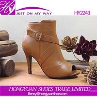 Sexy women open toe high heel boot lady fashion high heel ankle boots