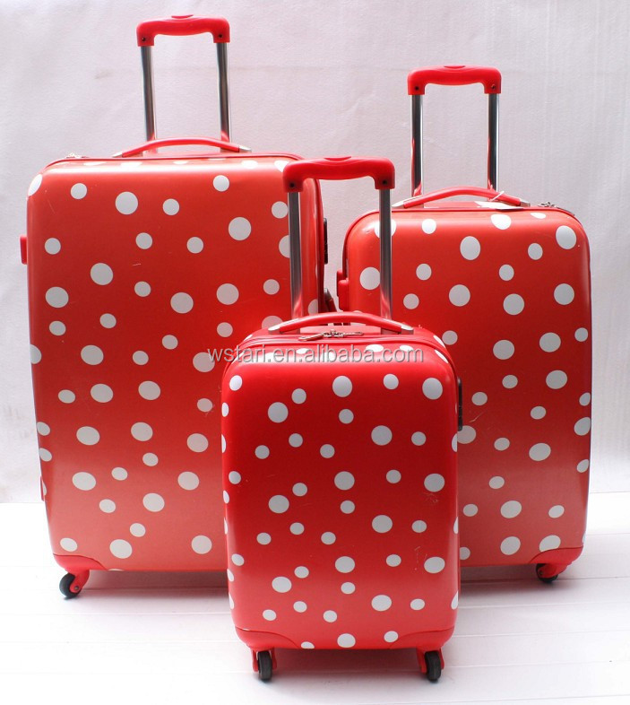 Beautiful Pattern Polka Dot ABS PC Trolley Luggage, Trolley Executive Suitcase, Valigia Trolley TSA, Trolley e Valigie Viaggio
