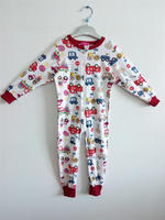 printed car cotton baby romper