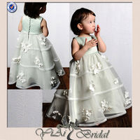 JK015 Appliqued Western Flower Girl Dress 2013
