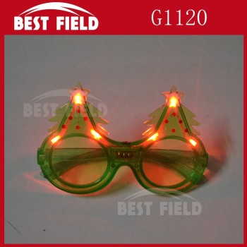 6pcs light christmas tree LED glasses