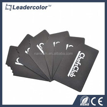 CR80 offset printing plastic black card