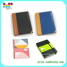 A4 / A6 Custom 2015 kraft book leather cover agenda printing diary A5 notebook printing
