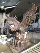 bronze large eagle of decor garden statue best selling