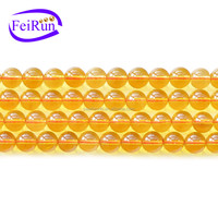 4-14mm round yellow color beads crystal beads, high quality crystal beads, crystal beads string
