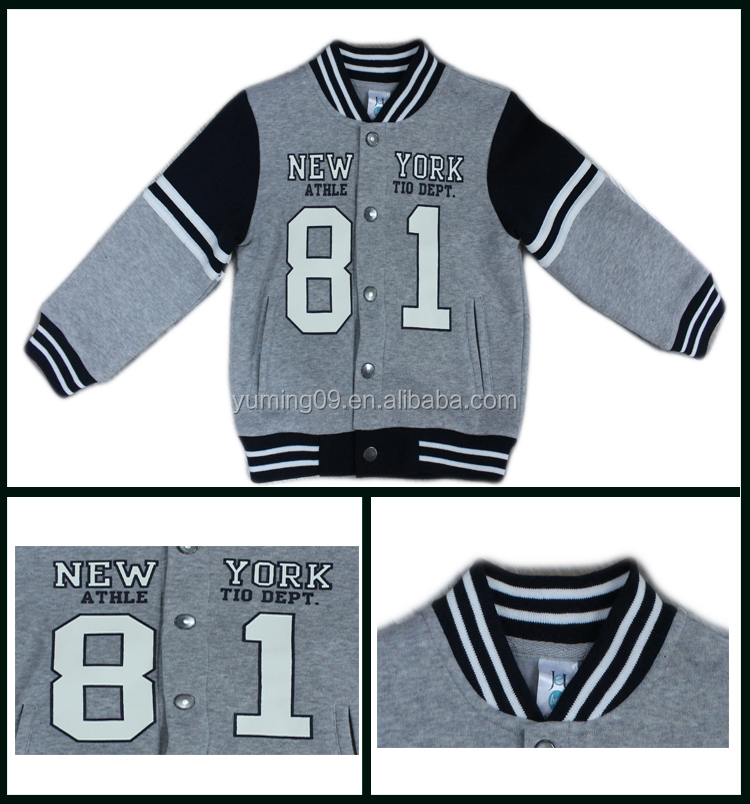 2014 American kids long sleeve cotton baseball jackets
