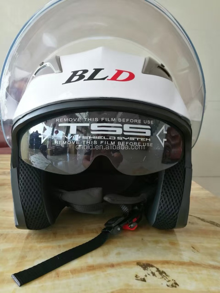 ABS Half face helmet /double visors/fashion popular helmet with sun glass/new open face helmet BLD-708