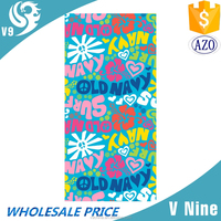 factory promotion 100% cotton velour reactive custom printed beach towel surplus towel