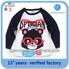 Girls printed t shirts of T/C 120gsm 80/20 tshirt polyester/cotton t shirt