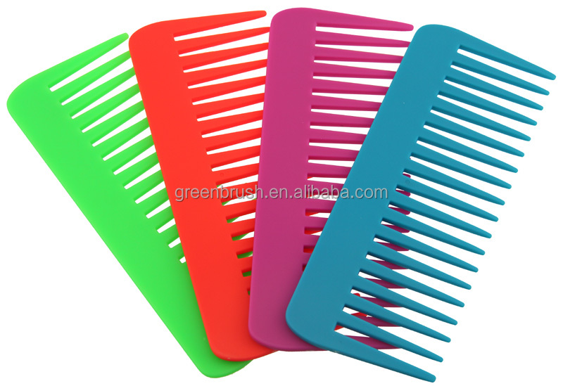Plastic fluorescence side comb