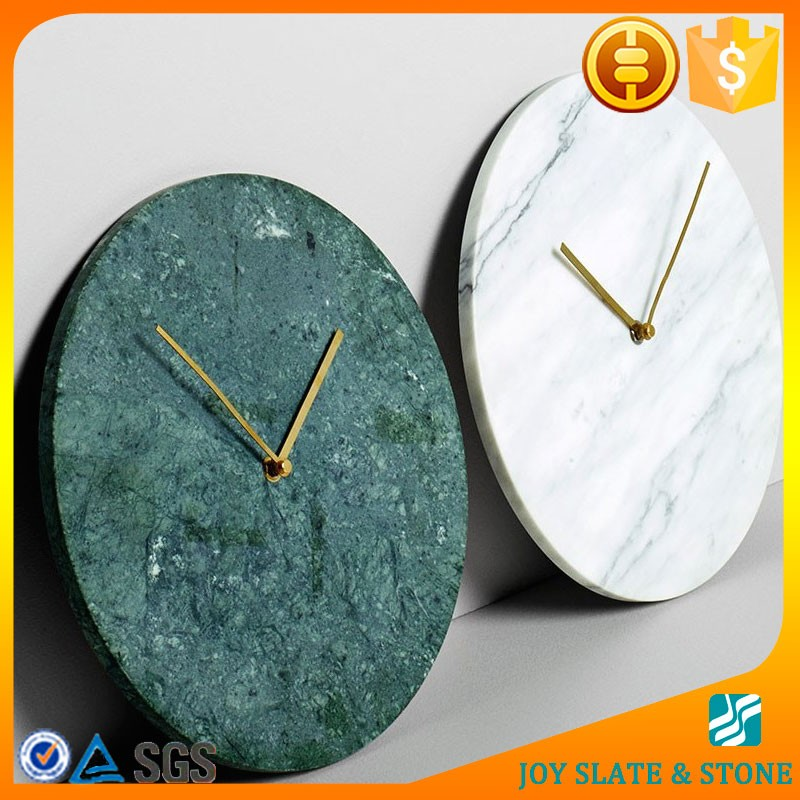 Green onyx marble clock/marble watch face
