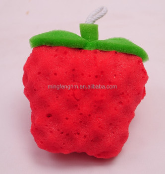 Nanhai foam factory wholesale red color polyurethane bath sponge