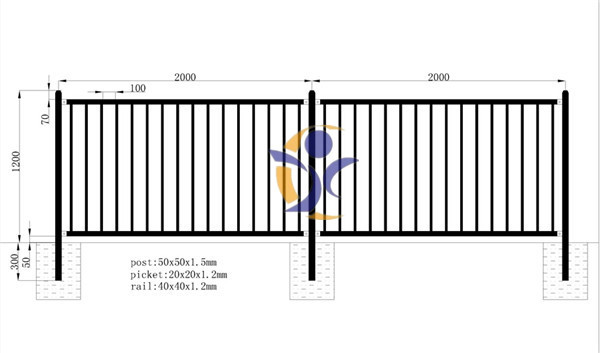 High quality free design pool fence for swimming pool