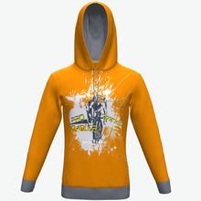 Custom made fleece polyester hoodies, 100% polyester printed pullover hoodies