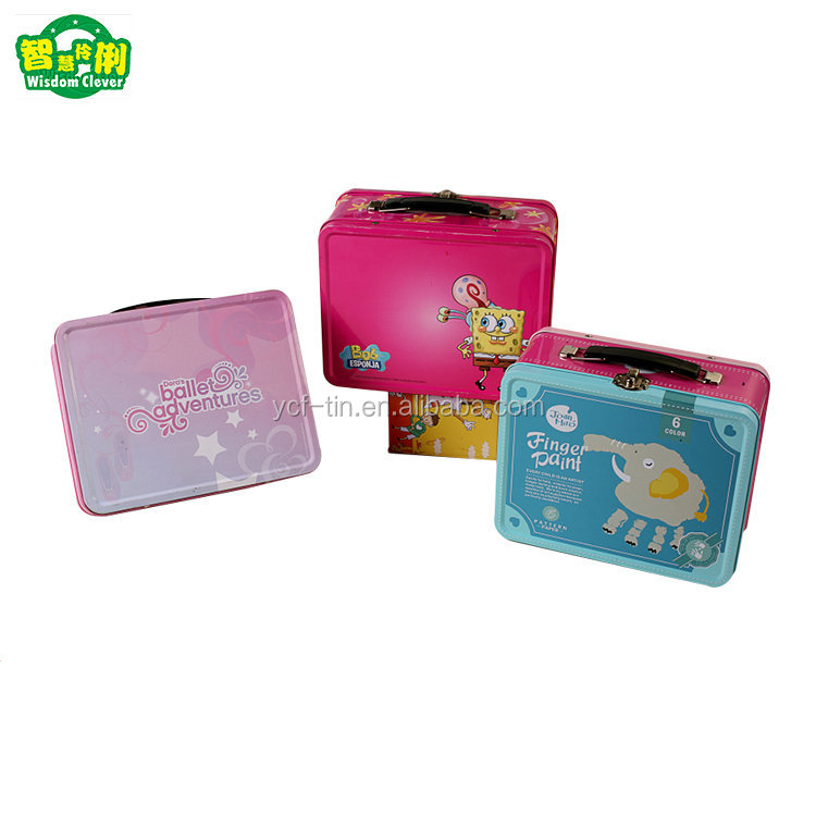 Wholesale Cartoon Printing Lunch Tin Box With Handle