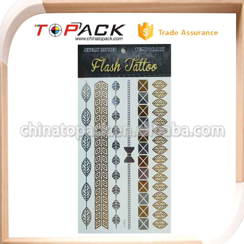 Custom Design Latest Wholesale metallic flash tattoos from direct manufacturer