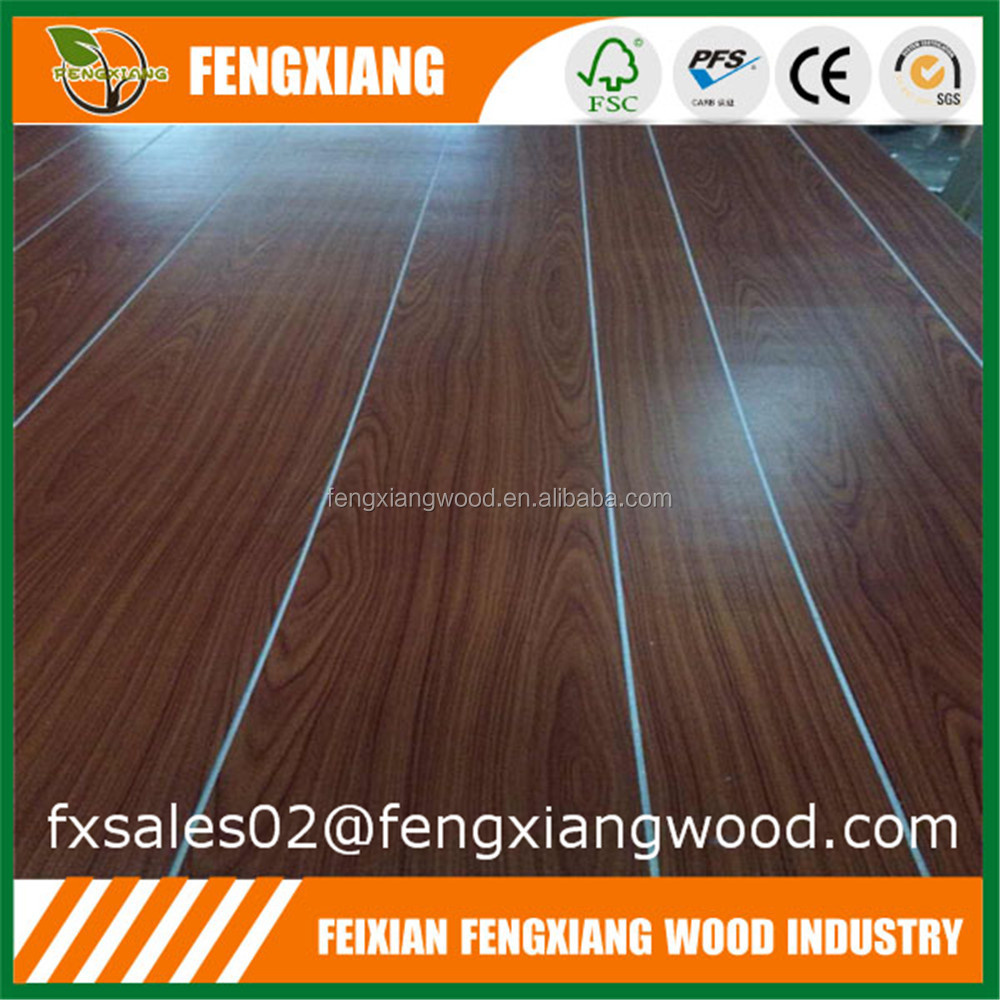 1220X2440mm Paper Laminated Plywood Panels Grooves