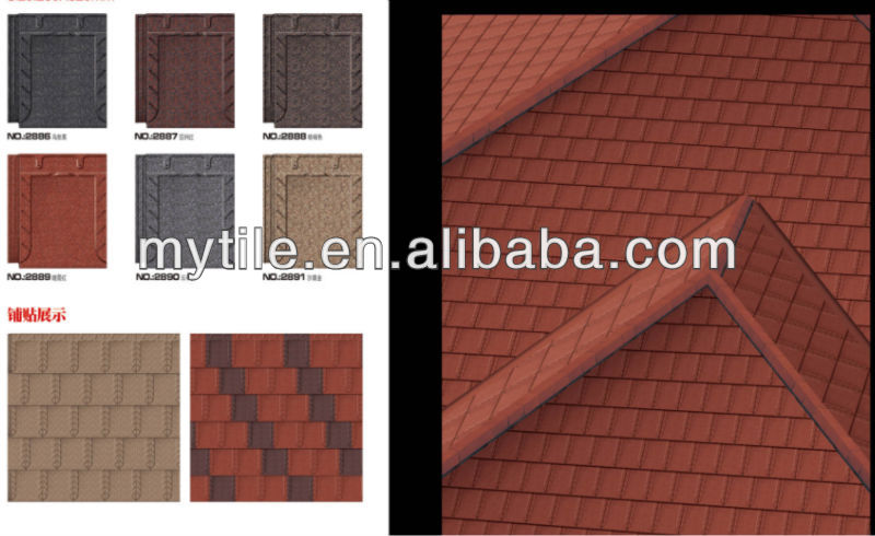 clay coated steel roofing tile best price