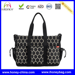 big capacity customized Personalized Tote trendy diaper bag for mom