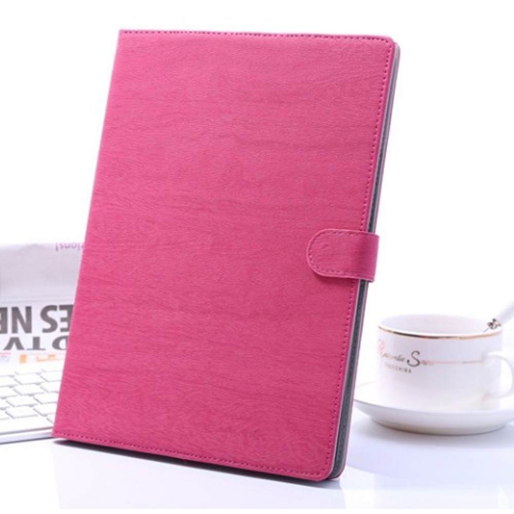 multi Wood Grain Pattern Stand Leather+PC Case for iPad Air with elastic belt